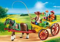 Playmobil : Horse-Drawn wagon - Playmobil Hestestald 6932