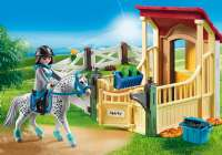 Playmobil : Horse Stable with Appaloosa - Playmobil Hestestald 6935